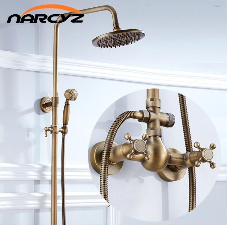 где купить European-style retro antique copper shower shower set shower tub shower faucet XT305 по лучшей цене