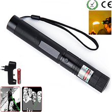 Green Laser sight High Power hunting Green Dot tactical 532 nm 5mW 303 laser pointer verde lazer Pen Head Burning Match(China)