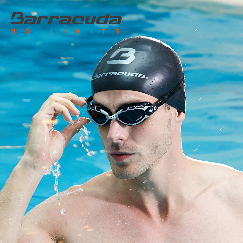 Occhiali da nuoto Barracuda sport acquatici Lenti curve antiriflesso Anti-fog UV Protection Triathlon # 33975