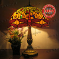 Luminaria De Mesa Desk Multicolour Glass Tiffany Lighting Fashion Classical Rustic Romantic Personality Dragonfly Table Lamp