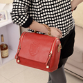 Ladies Messenger Bags Women PU Leather Bags Shoulder Bag With Double Zipper Handbag