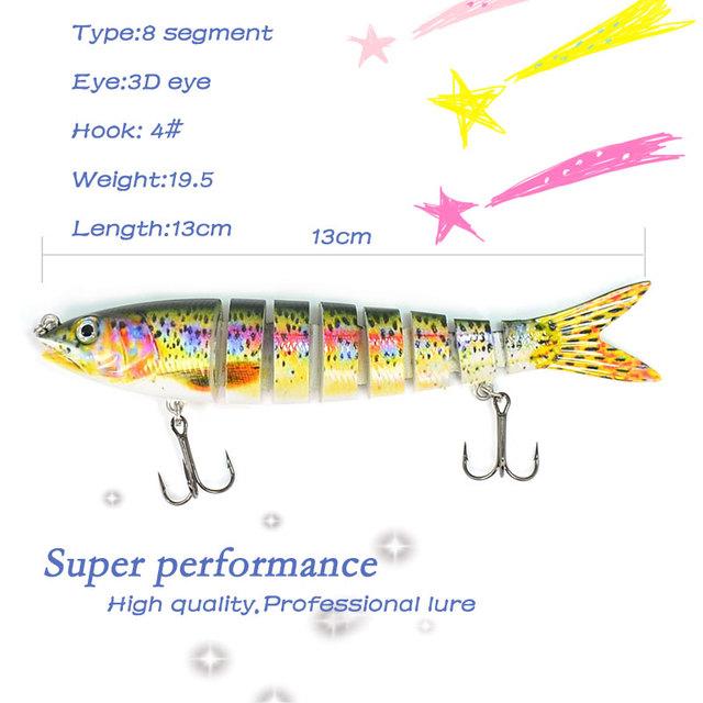 Fishing Artificial 8-Segement Isca Hard Bait Lure