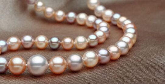 """AAA+ 21""""9-10mm genuine natural south sea pink white pearl necklace"""
