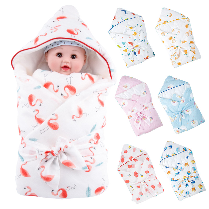 Muslinlife Envelope Baby Wrap Newborns Swaddle Infant Swaddling Blanket Winter Cotton Swaddle Wrap baby Sleeping Bag 85*85cm removable liner baby infant swaddle blanket 100
