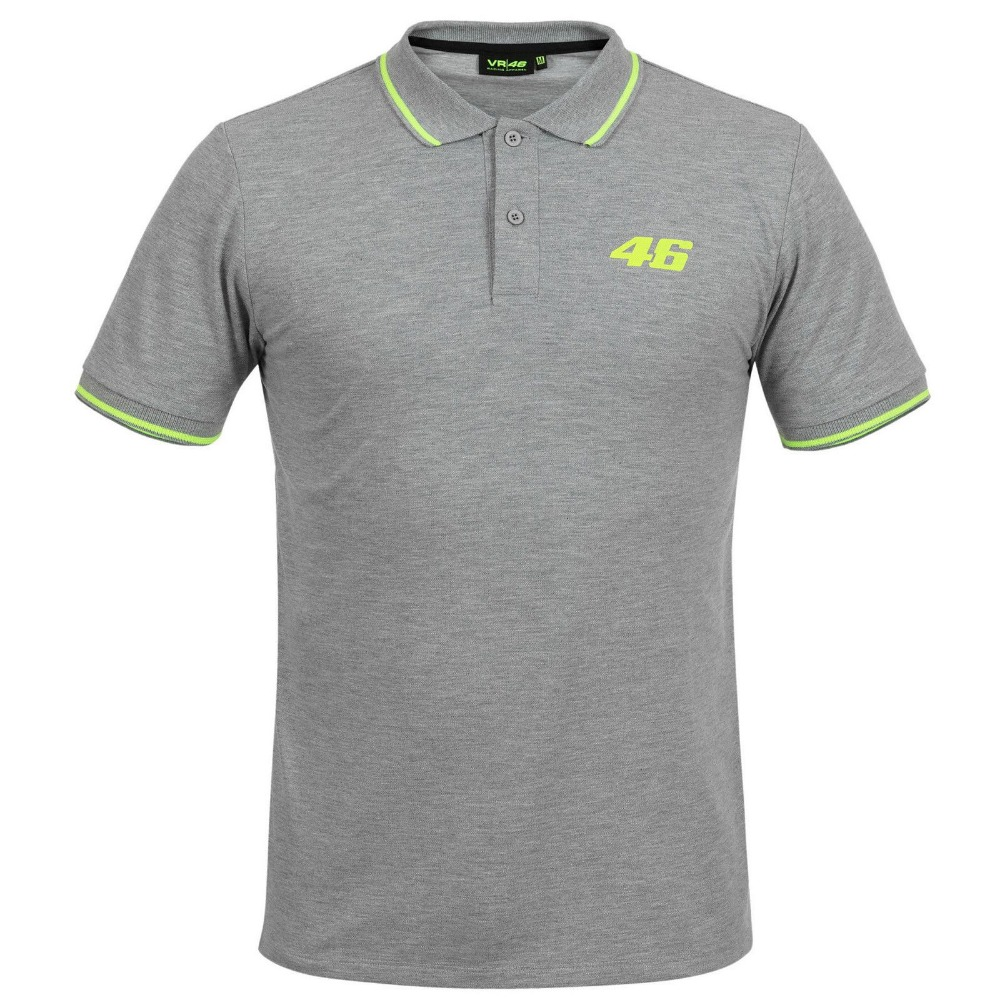 Mens fashion leisure sports golf motorcycle Valentino Rossi VR46 Moto GP Core Logo Grey for yamaha M1 Rossi VR46 MOTOGP T-Shirt