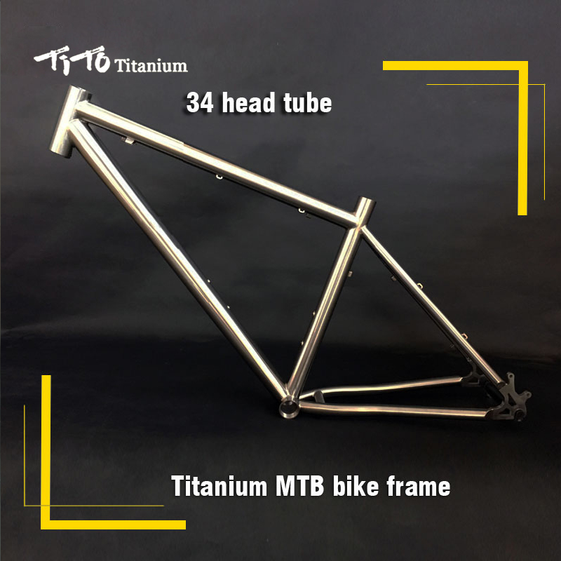 FREE SHIPPING !!! TiTo titanium mountain bike MTB frame 650B 26`` 27.5`` 34 head tube bicycle free shipping tito titanium mountain bike mtb frame 26 27 5 29er simi circle a tail hook 34 head tube