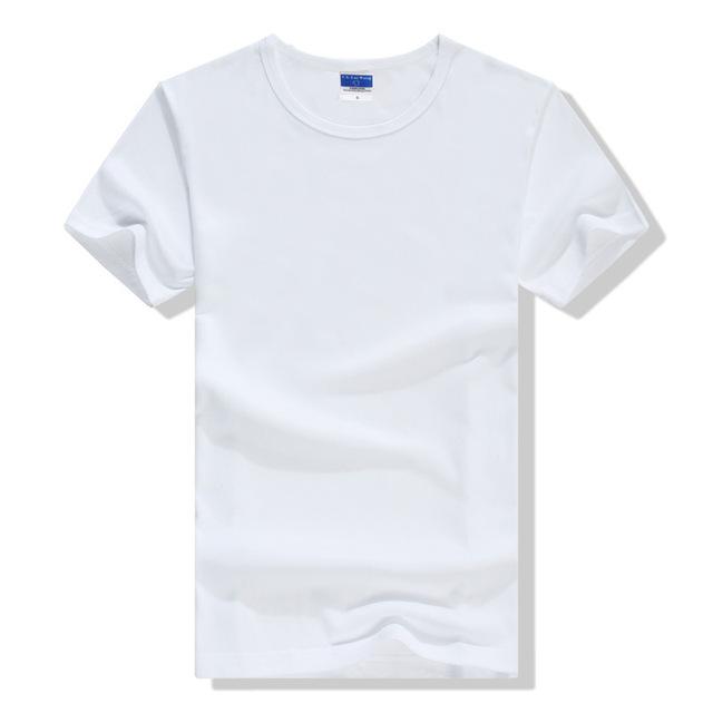 2016 Casual Sólidos T-shirt dos homens Verão O-pescoço Manga Curta Camisa de Fitness T Homme Unisex Manga Curta Tops
