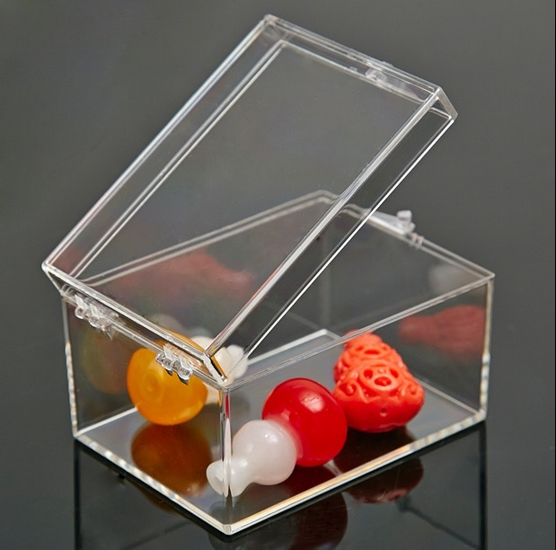6.4x4.7x3.7cmPlastic Transparent Rectangular box specimen box Small mini storage box bin