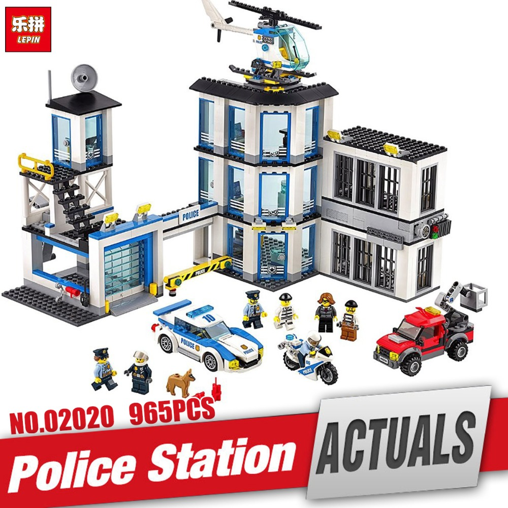 Lepin 02020 City Series The New Police Station Set children Educational Building Blocks Bricks Boy Toy Model Gift legoing 60141 new lepin 21003 series city car beetle model educational building blocks compatible 10252 blue technic children toy gift