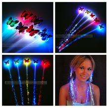 Led hair extensions online shopping the world largest led hair 80pcs luminous light up led hair extension flash braid club pub birthday halloween party hair glow pmusecretfo Gallery