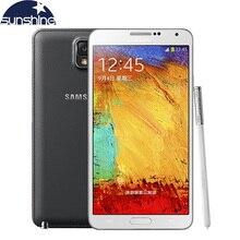 Оригинальный разблокирована Samsung Galaxy Note 3 N900/N9005 мобильный телефон 5.7 «Quad Core 13MP GPS WCDMA Восстановленное смартфон