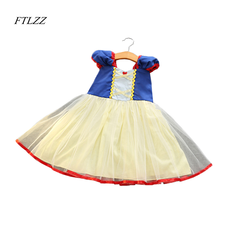 FTLZZ 2017 Summer New Girls Snow White Princess Ball Gown Dress Kids Girls  Party Cosplay Dresses Costume Children Girl Clothing christina fitzgerald инструмент для удаления кутикулы precision