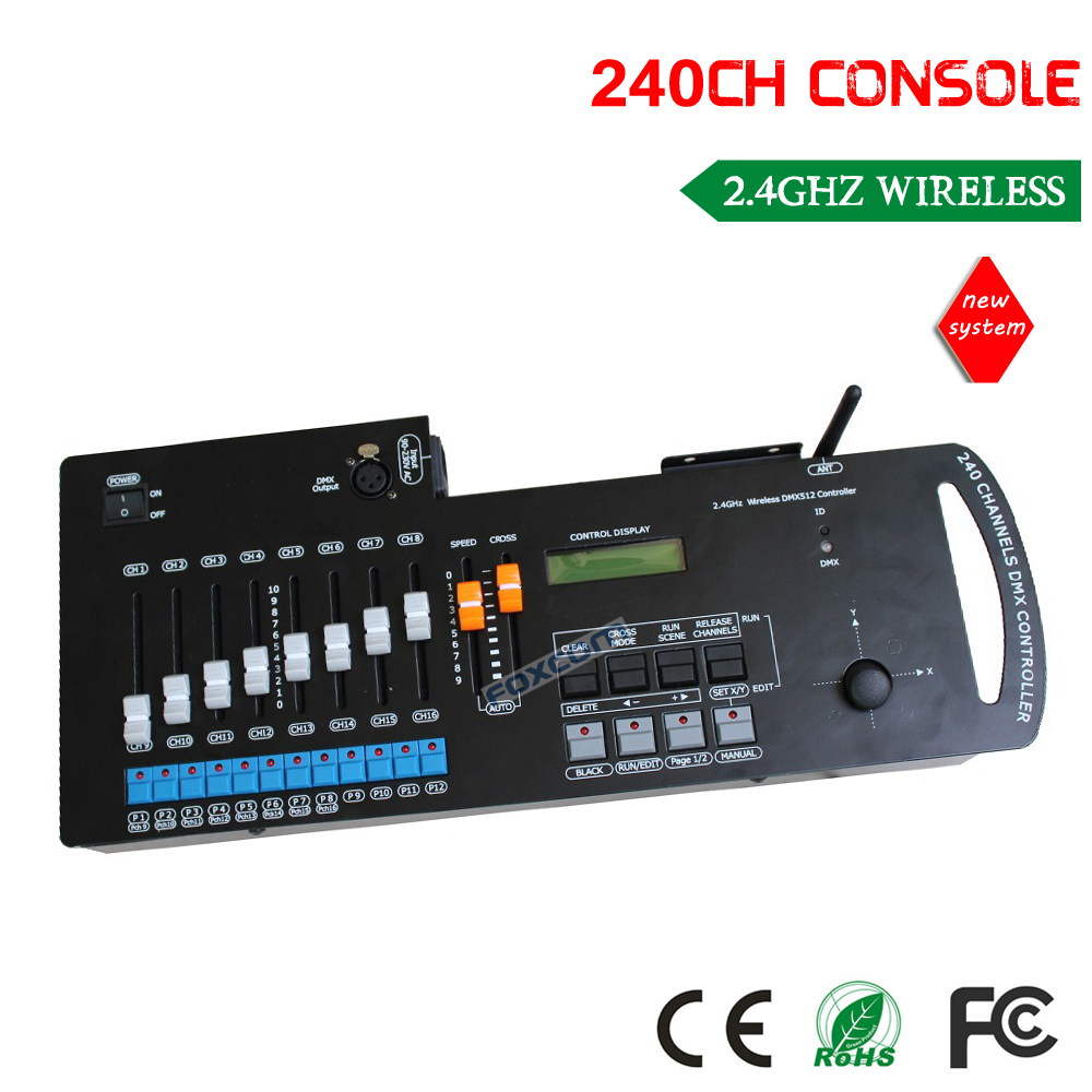 DHL free shipping 2.4G 240CH wireless dmx console controller wireless transmfer signal клетка для грызунов i p t s mini с игровым комплексом 32 см х 20 см х 24 см
