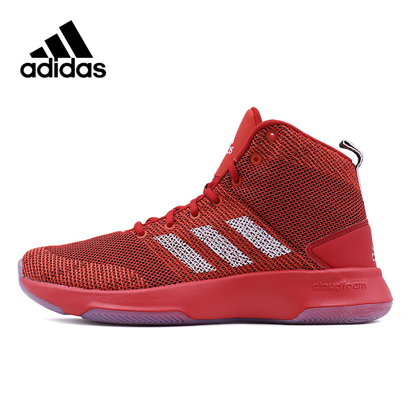 Original New Arrival Official Adidas Men's Breathable High Top Basketball Shoes Sneakers original new arrival official adidas women s jacket breathable stand collar training sportswear
