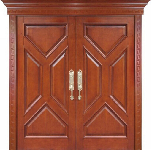 Custom Design Main Wood Door Wooden Double Door Exterior