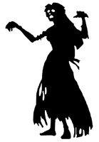 2015 Хэллоуин виниловые наклейки на стены зомби для девочек женские росписи Книги по искусству стены Стикеры P Книги по искусству y бар Декор о...