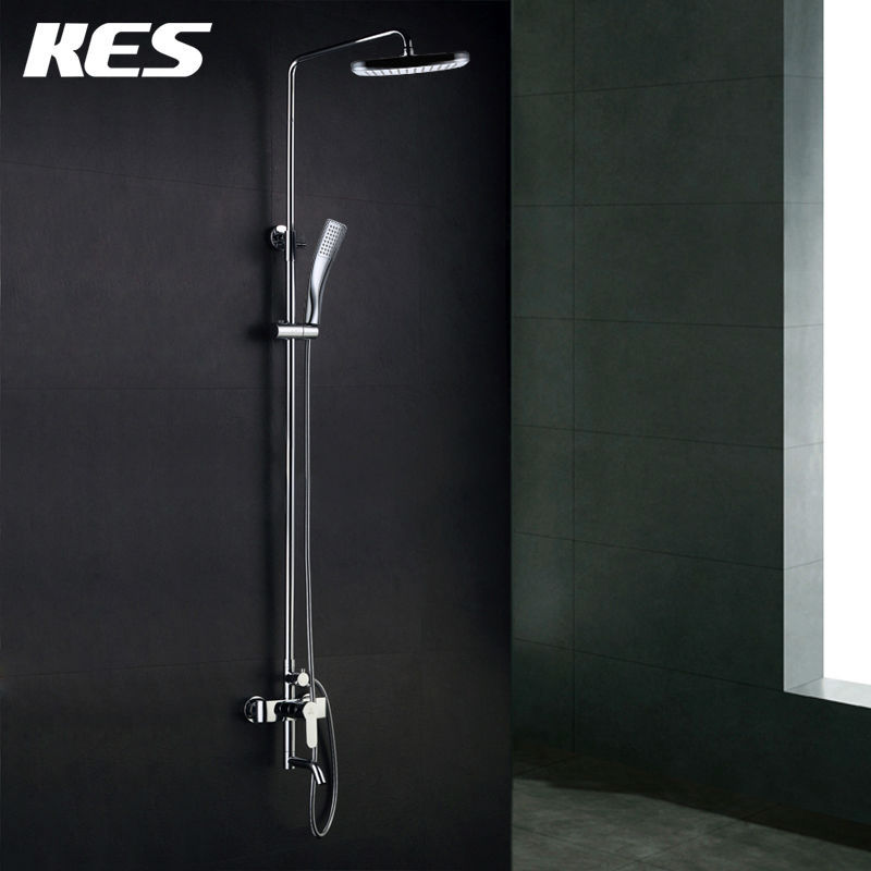 KES X6650A Wall Mount Tub Faucet with 3 Function Hand Shower and ...