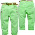 3662 soft kid trousers spring autumn casual pants boys girls baby trousers  Fluorescent green fluorescent yellow