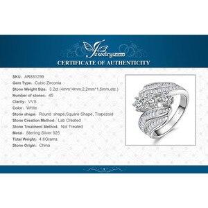 Image 5 - JewelryPalace Anello di Fidanzamento 925 Anelli In Argento Sterling per Le Donne Anniversario Anelli di Nozze Anello Canale Set Gioielli In Argento 925