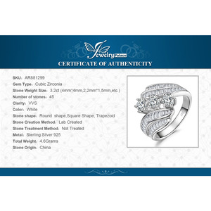 Image 5 - JewelryPalace Engagement Ring 925 Sterling Silver Rings for Women Anniversary Ring Wedding Rings Channel Set Silver 925 Jewelry