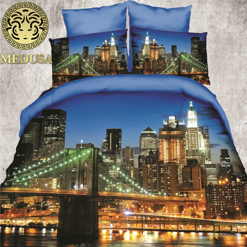 Medusa verbazingwekkende 3d twilight san francisco beddengoed set - Thuis textiel