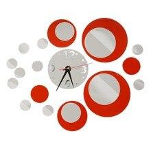 Venta caliente de Diseño De Acrílico Del Reloj de Pared Efecto de Espejo Pegatina Muraux Home Decor Craft Vinilos Paredes