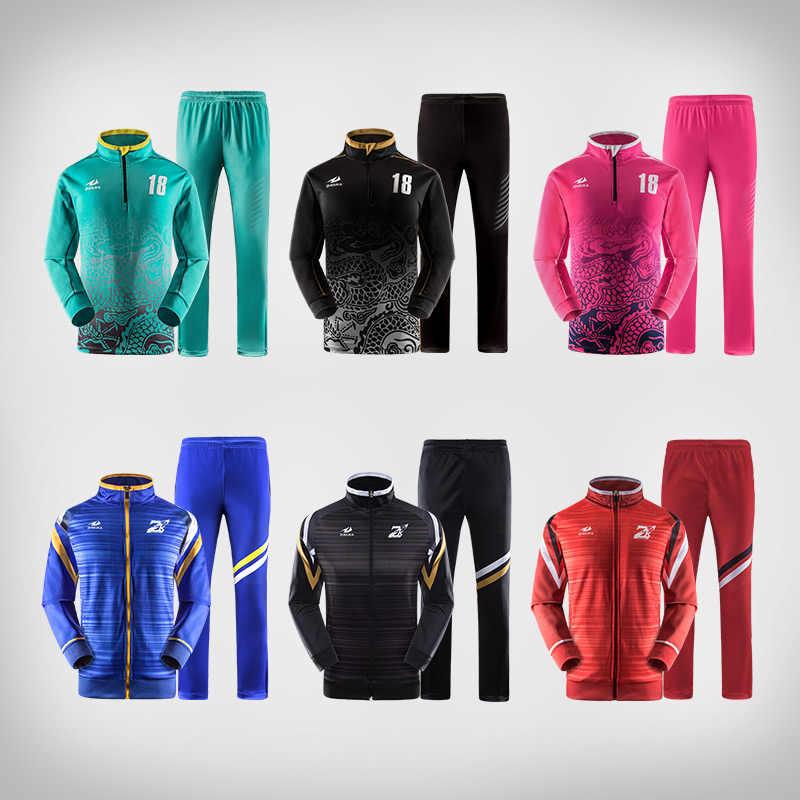 d8669a2be Профессиональный дизайн эластичные футбольная куртка зима осень футбольных  тренировок спортивная одежда костюм заказной рисунок футбольные костюмы