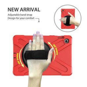 Image 2 - מקרה עבור Samsung Galaxy Tab S5E 10.5 SM T720 SM T725 2019 360 כבד החובה יד רצועת כתף רצועת ילדים מוקשח מגן כיסוי