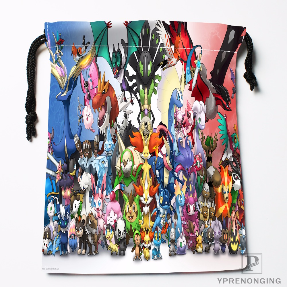 Custom Pokemon Drawstring Bags Printing Travel Storage Mini Pouch Swim Hiking Toy Bag Size 18x22cm#180412-11-95
