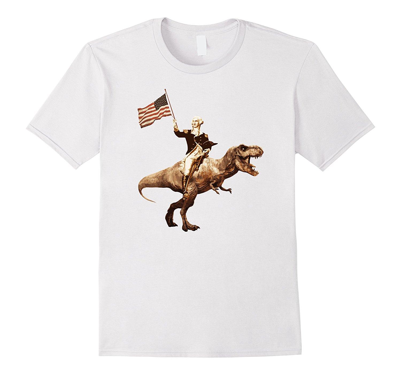 Fashion Style George Washington Riding a Tyrannosaurus Rex ...