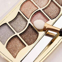 Professional Eye Makeup 12 Colors Eyeshadow Palette Gold Smoky Cosmetics Makeup Palette Diamond Bright Glitter Eye