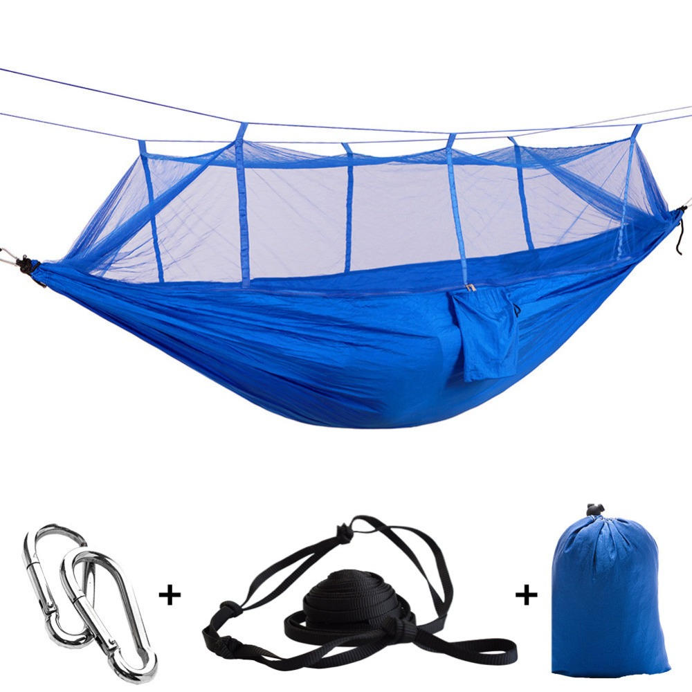 Ultralight Camping Mosquito Net Hammock 1-2 Person Survival Hamac Hanging Bed Outdoor Netting Travel Hanging Bed Portable Tent недорого