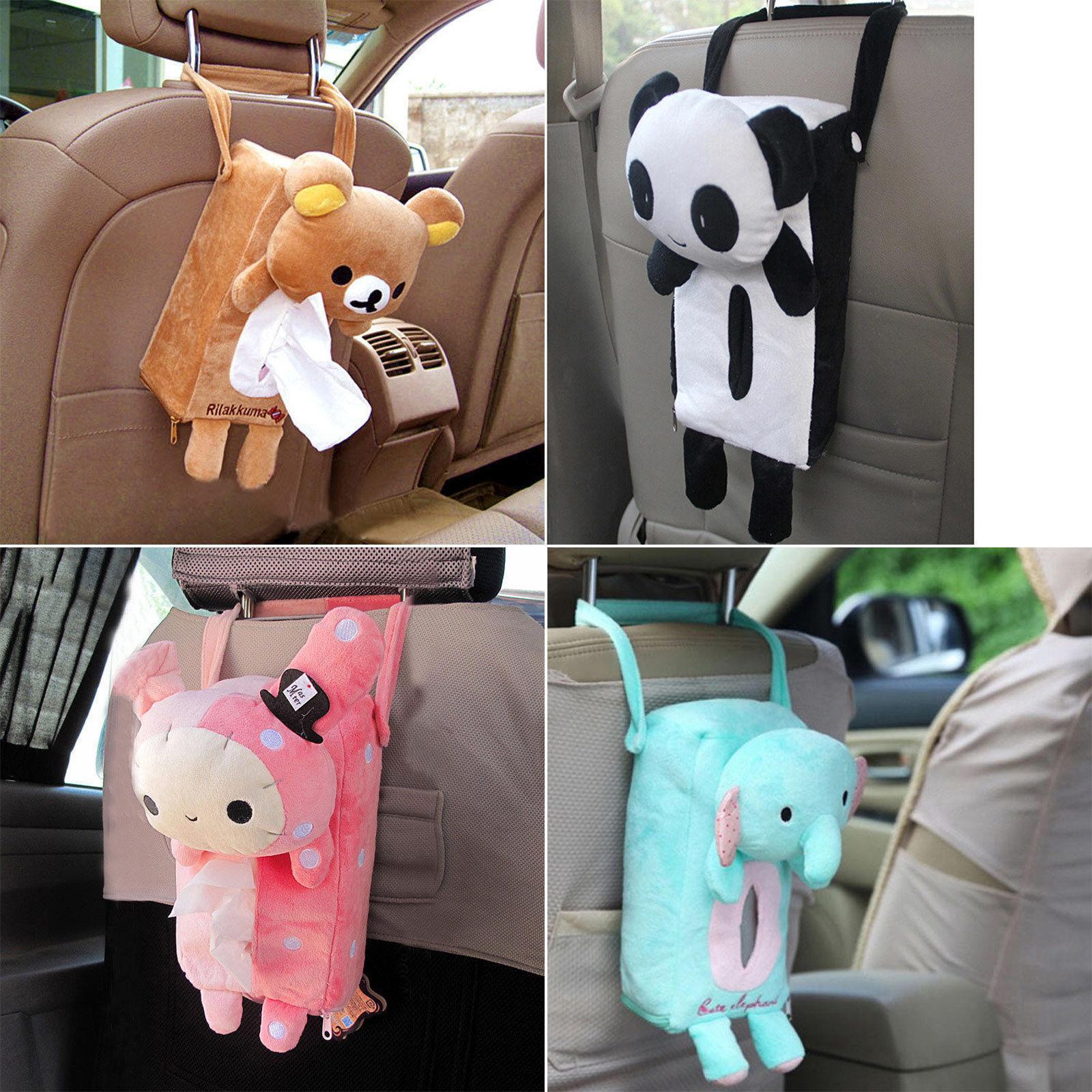 Cute Animal Tissue Box Toilet Paper Cover Case Napkin Holder Home Car Decor