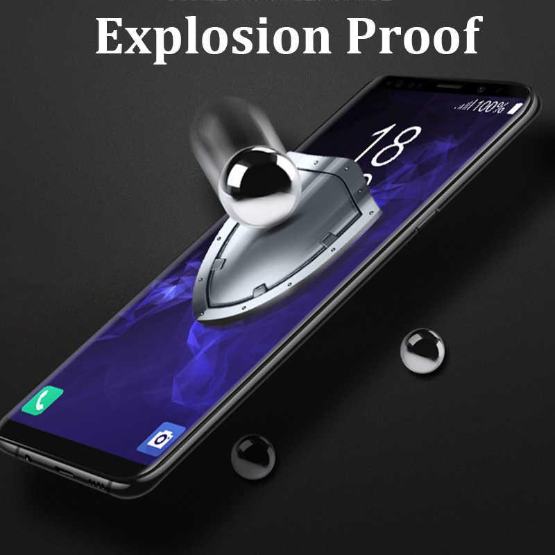 حالة على لسامسونج غالاكسي S9 S8 زائد S7 S6 حافة زجاج واقي واقي للشاشة Galaxi 8s 9s 7s S 9 8 7 6 حافة المقسى غلاس