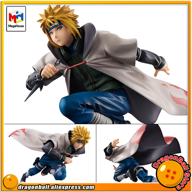 Japan Anime Naruto Original MegaHouse G.E.M. Complete Figure - Namikaze Minato 100% original megahouse g e m remix complete figure uzumaki naruto