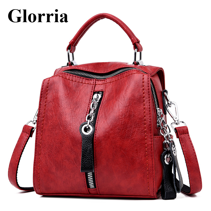Glorria Luxury Cow Leather Handbags Women Bags Designer Fashion Shoulder Crossbody Bag for Women Mul