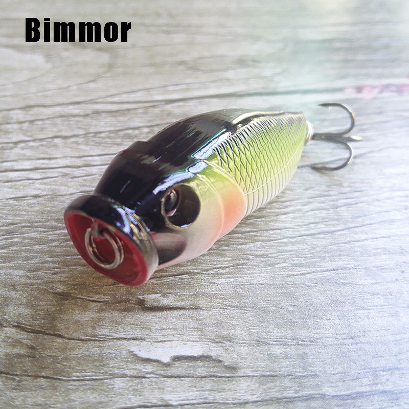 Bimmor Popper Pesca Lure Wobbler Floating Fly Fishing Topwater 6cm/8g Plastic Hard Bait Crankbait 6# Hook Tackle 5 Colors 3pcs lot fishing lures mixed set minnow crankbaits topwater popper hook lure spinner baits crankbait bass wobbler tackle hook