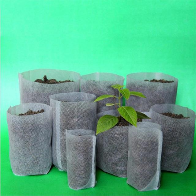 50 100 Pcs Garden Supplies Environmental Nursery Container Pots Seedling Raising Non Woven Bags