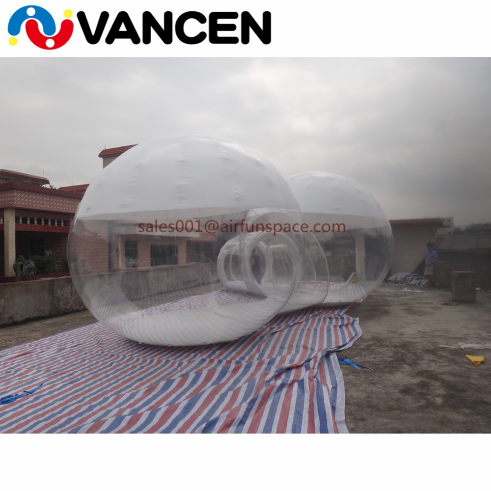 4mH Double rooms tent home used inflatable games transparent bubble tent cheap inflatable clear dome tent for camping - 4