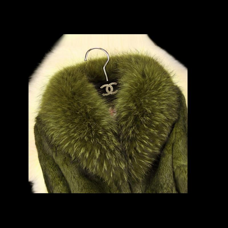 LZJ high quality luxury fur coat coat winter jacket jacket lady coat leather raccoon fur collar natural rabbit fur long coat 3XL