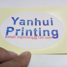 glossy paper sticker label printing/oval label printing