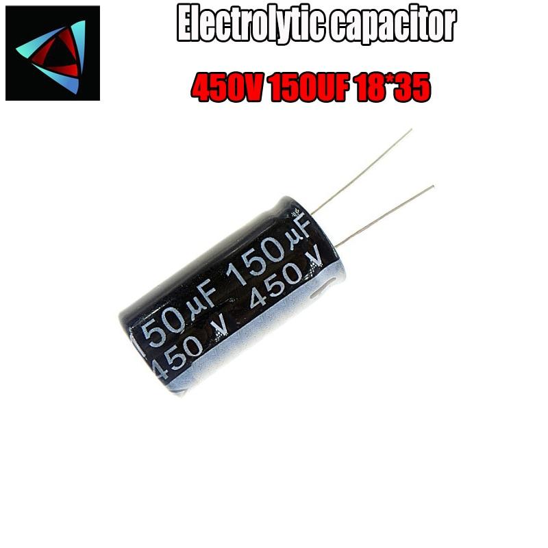 Higt Quality 450V 150UF 18*35mm 150UF 450V 18*35 Electrolytic Capacitor