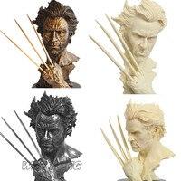 X men Росомаха статуя Смола три цвета супер герой Росомаха битва Версия модели бюст Новая фигурка коллекционная подарок на день рождения