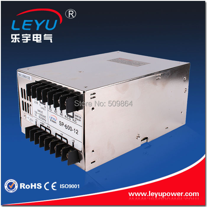 12V 50A output 110V input Single Output 600W Switching power supply for LED Strip light AC to DC with PFC function