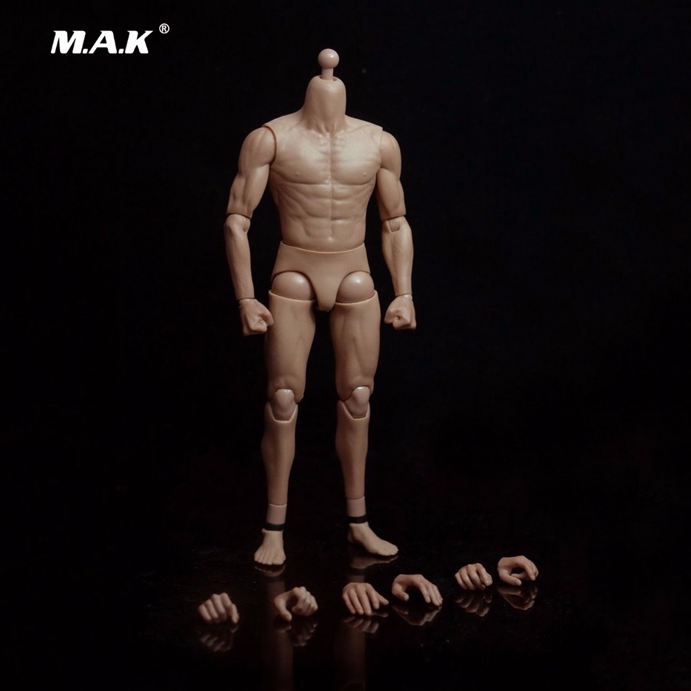 "G002 12"" Asian Muscle Body for 1/6 Male Head Sculpt-in Action & Toy Figures from Toys & Hobbies    1"