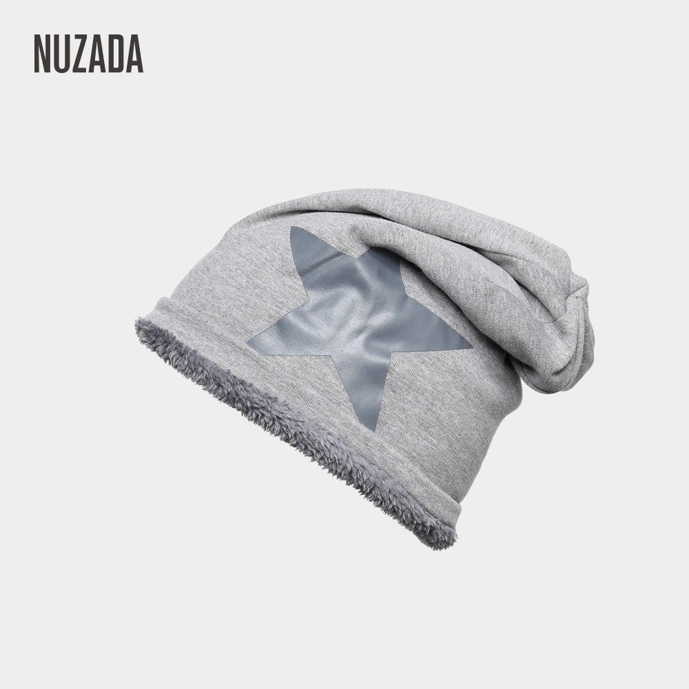 NUZADA Acrylic Cotton Knitted Caps Bonnet Cold Warm Function Men Women   Skullies     Beanies   Cap Autumn Winter Hat Internal Plush