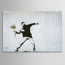 1 panel Flower Graffiti Street Art Poster  Canvas Prints Pictures For Room Wall Decor Abstract