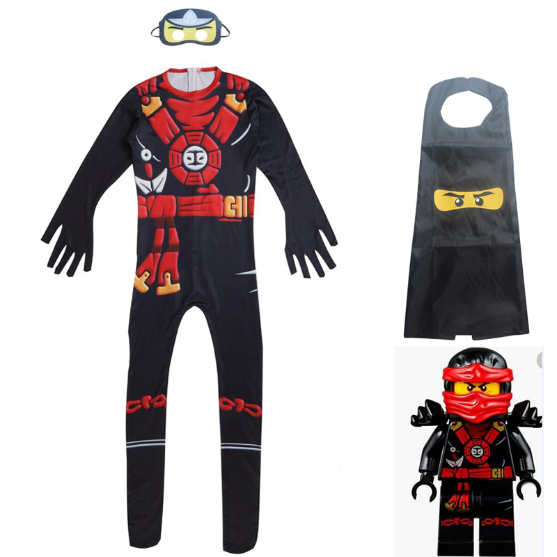 New Kids Ninjago costume fashion boys children amazing batman masks costumes suit boy halloween Cosplay ninja clothing