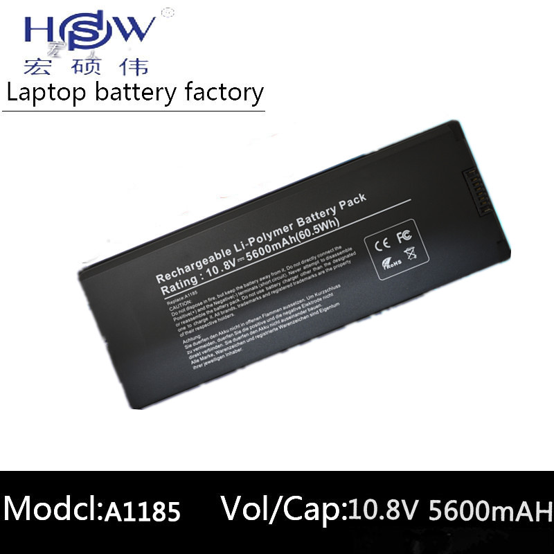 HSW Laptop Battery for Apple MacBook 13 A1185 battery for laptop A1185 A1181 MA561 MA254 MA255 MA699 MB061X/A battery          HSW Laptop Battery for Apple MacBook 13 A1185 battery for laptop A1185 A1181 MA561 MA254 MA255 MA699 MB061X/A battery