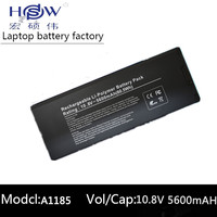 HSW Laptop Battery for Apple MacBook 13 A1185 battery for laptop A1185 A1181 MA561 MA254 MA255 MA699 MB061X/A battery
